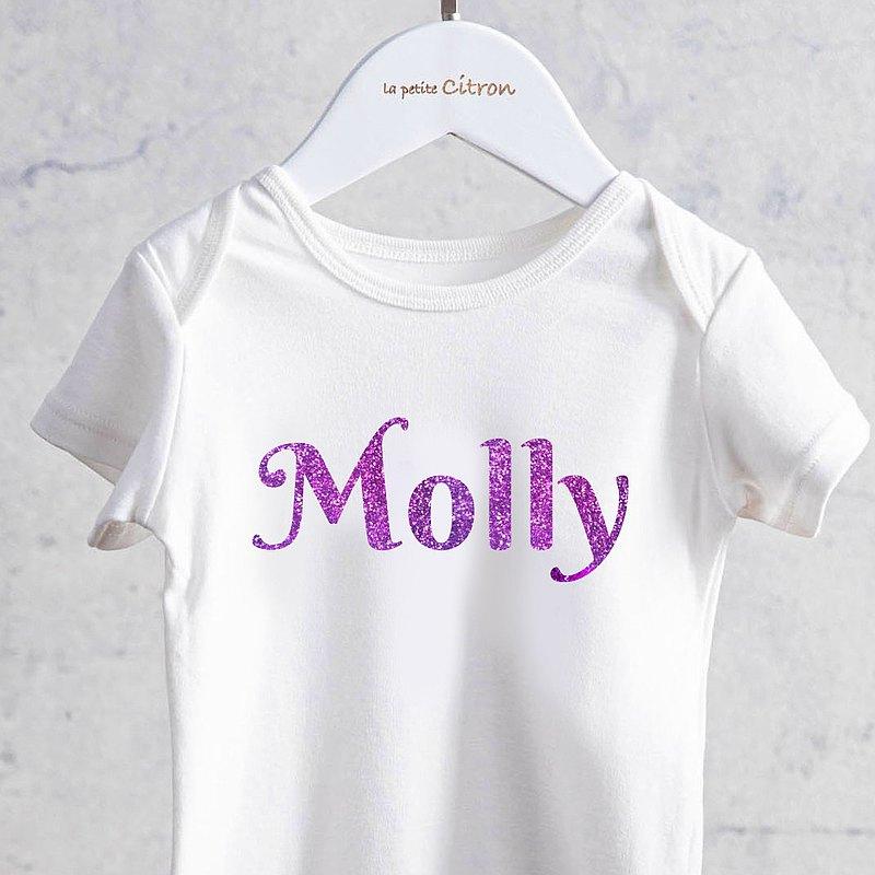 美國檬果Baby Girl 燙金包屁衣 女寶專屬多色可選 新生兒週歲送禮