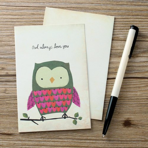 Greeting Card -Owl Love|CARD031
