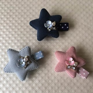 [Cowboy bleating] stars hair clips