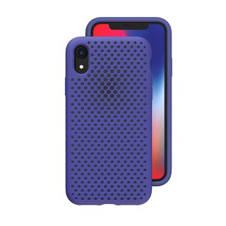 AndMesh-iPhone XR dot soft anti-collision protective cover - indigo (4571384959179