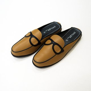Glasses half-sandals - Caramel