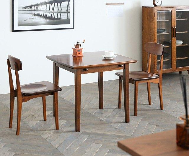 Asahikawa Furniture Studio, Wood Folding Dining Room Table And Chairs