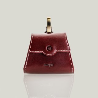 Sazerac - Leather purse - dark red