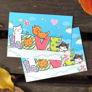 Brave Cat Otaru LOVE Postcard