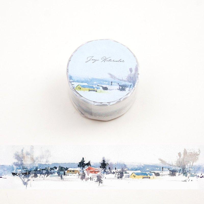 聖誕節北歐 | 啾吉水彩 手繪紙膠帶 貼紙 日本和紙 風景插畫