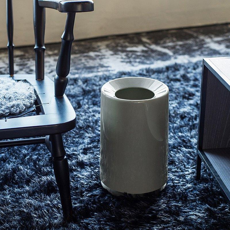 日本ideaco 摩登圓形家用垃圾桶-6L