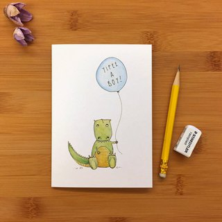 【LITTLE DIFFERENCE】YIPEE A BOY GREETING CARD