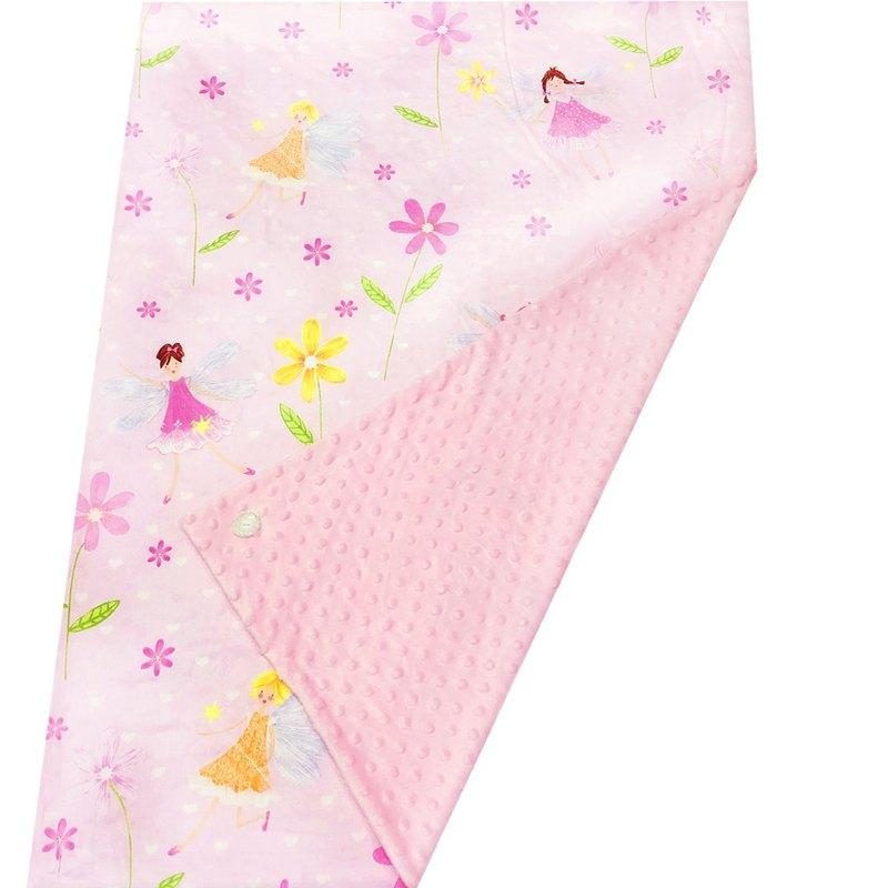 Minky多功能 點點顆粒 攜帶毯嬰兒毯冷氣毯被 粉色-精靈