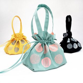 Drawstring Top Handle Handbag / Screen Printing bag - Circlemesh Collection