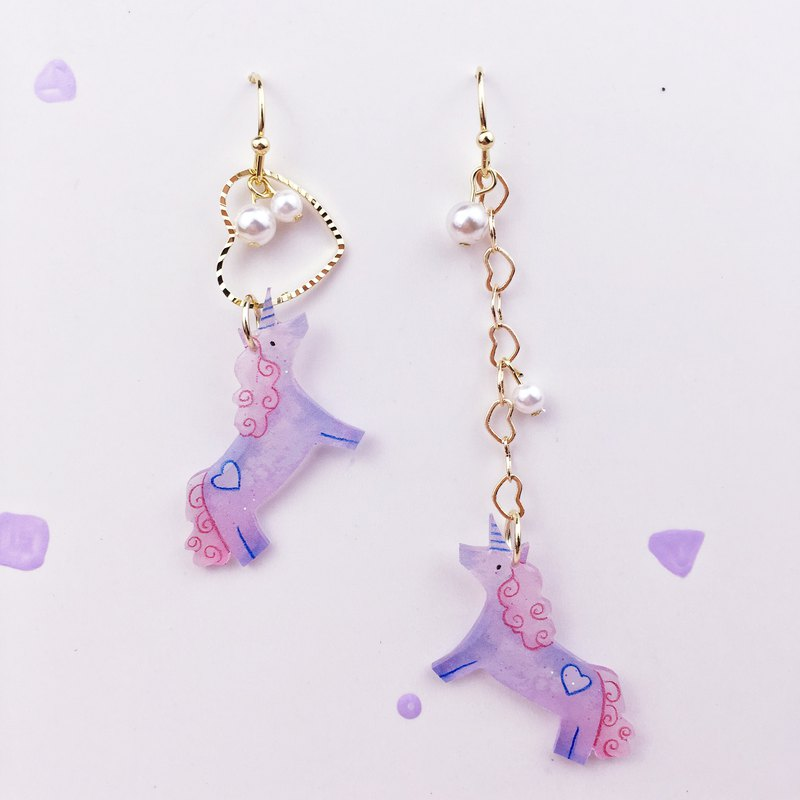 A dream for a horse's love Shell Pearl Earrings
