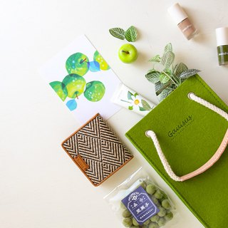 Leyang·Gauisus - Picnic Small Party Bag (Hand To Shoulder) - Grass Green