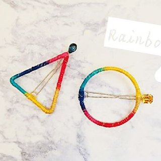 §HUKUROU§ night rainbow geometric hairpin