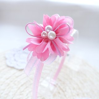 Children hair hoop hand made chiffon flower head hoop head ornaments