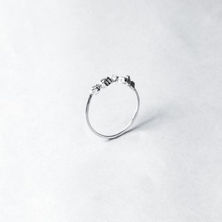 │Scenic│Surface Mineral Rock - Ore Series - Sterling Silver Ring