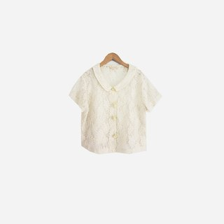 Dislocated Vintage / Full Lace White Shirt no.665 vintage