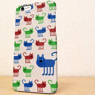 送料無料☆iPhone case GALAXY case ☆赤猫・緑猫・青猫 phone case