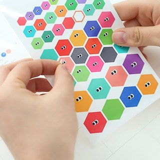 Livework-Somsom Geometric Sticker Set - Hexagon, LWK37453