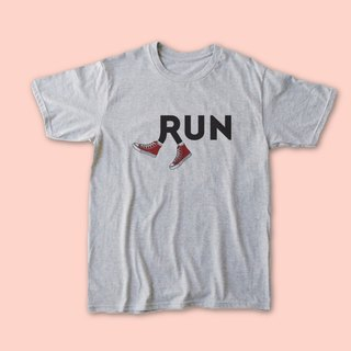 RUN-Mens/Ladies/Unisex T-shirt,Sport Grey,Athletic Tee,Gymnastic Tee,Gym Fashion