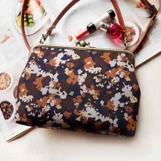 Flowers two forest shoulder bag shoulder bag / phone bag / mouth gold package [Made in Taiwan]
