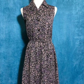Ping-pong vintage [Vintage dress / flower sleeveless vintage dress] bring back VINTAGE abroad