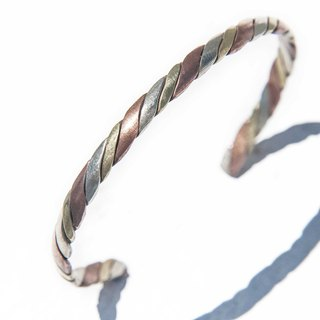 Handmade copper bracelet / red copper bracelet / red copper bracelet / handmade bracelet / ethnic wind bracelet - convex twist weaving