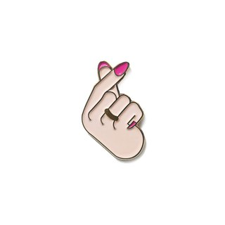 Finger Heart Pin
