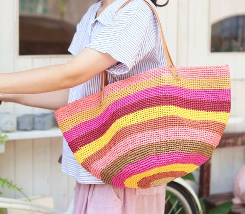 【Good day hand】 hand weaving. The island is warm and warm woven bag
