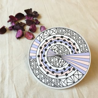 Ceramic Tangles Coaster/ Pantone color/ The Balence of Rose Pink and Lavender blue