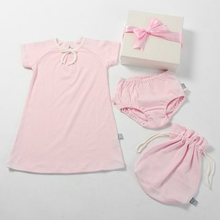 Organic cotton. Pinken Princess Princess dress gift box group