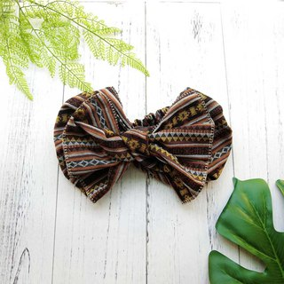 Giant butterfly hair band (geometric caramel section) - the whole strip can be taken apart