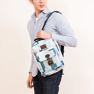 "SOLIS [ Camouflage Series ] 10"" Tablet Backpack(sky blue)"