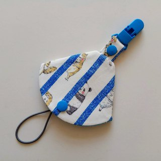 Panda bear peek two in one pacifier clip pacifier dust bag + pacifier clip dual function 1 into