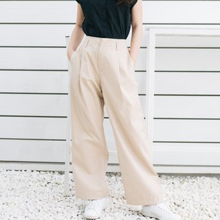 Wide-Leg Chino Pants