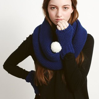 (Cheap Clearance) United Kingdom [Miss PomPom] super POM mitts / navy blue