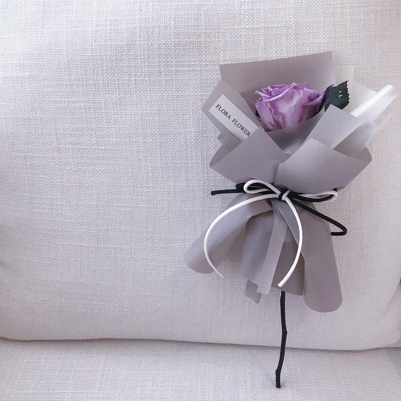 (淡紫色)一朵永生玫瑰花束/永生花 / 花束 / 求婚花束 / 情人花束