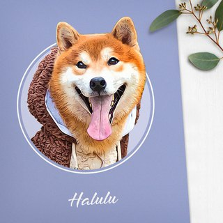 Customized 6 characters, pet portraits to send photo frames (small fresh style)