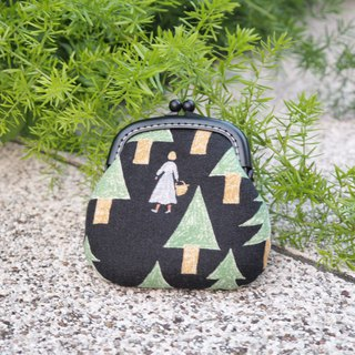Fairy Tales in the Forest # Black / Small Gold / Coin Purse