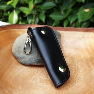 Car Key Case - Black (Genuine Cow Leather) / Key Case / Key Holder