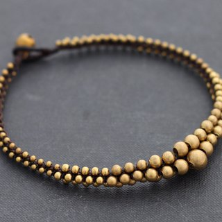 Lunar Brass Beaded Anklets Woven Beaded Ankles Bracelets