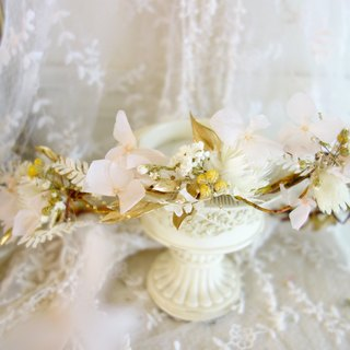Wedding floral series ~ naked gold vintage wreaths