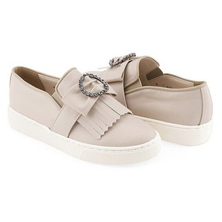 PRE-ORDER – SPUR CLLIB ZENN_CIRCLE JEWEL BOW SLIP ON MS4381 BEIGE
