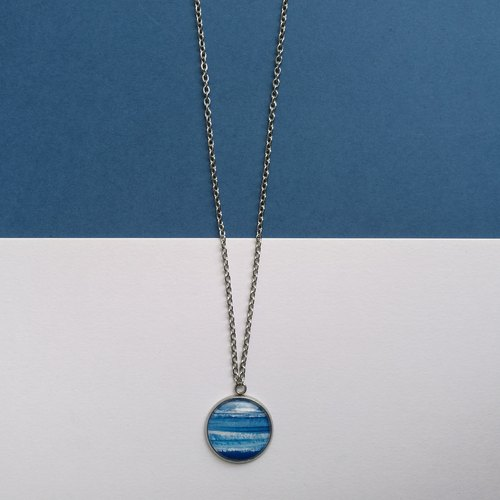 CHEW 'N' GIAM | Hand Painted Necklace [Blue Series]