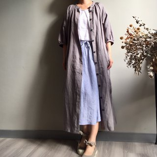 *Flying imagery*Freedom gray two-wear dress jacket 100% linen