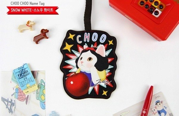 Jetoy, sweet cat travel tag _Snow white ~ J1606108