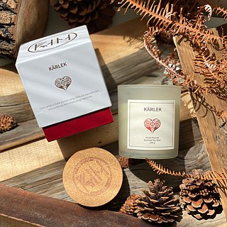 Swedish Design 200g KÄRLEK Soy Wax Candle - Fruity Scent