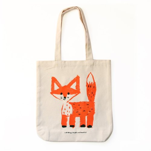 One of a kind - Fox tote ba