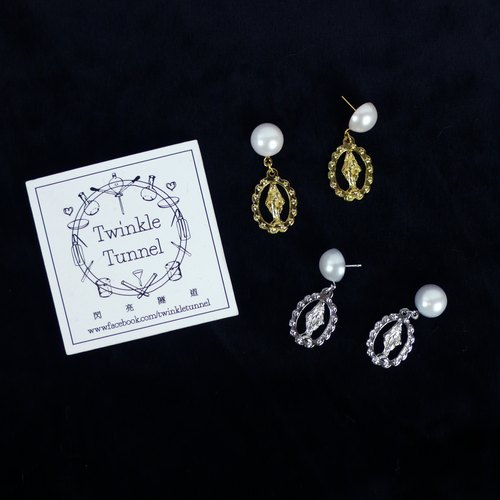 Pearl holy earrings (gold / silver)