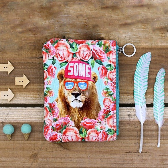 STILL AND CHEW mash Cosmetic / bag small objects (small) - A SOME LION
