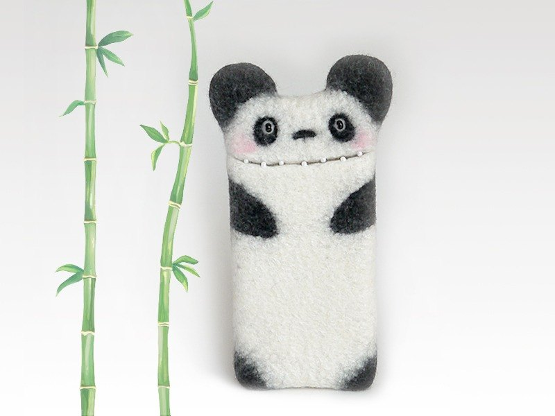 Panda Bear case for for iPhone 7, for iPhone 7 Plus, felt panda phone case