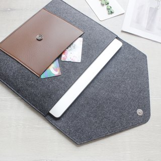 [Customizable] Original handmade dark gray felt felt sleeve protective sleeve Apple iPad Pro 12.9 inches plus keyboard cover laptop computer bag iPad Pro iPad 2017 plus keyboard (can be tailored) --046